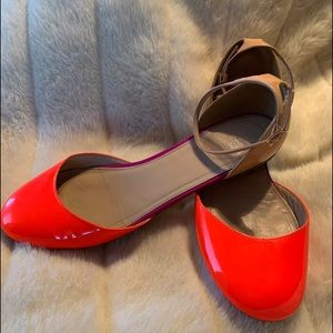 J crew Italy patent leather fun flats
